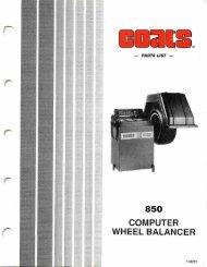 Coats 850 Wheel Balancer - NY Tech Supply