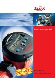 INNOVATORS IN FLOW TECHNOLOGY LIQUID METER TYPE FMC