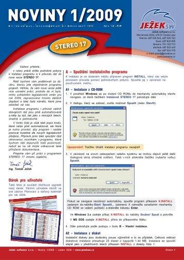 Noviny 1/2009 - Ježek software