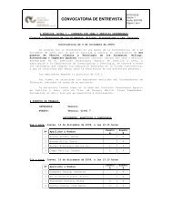 CONVOCATORIA DE ENTREVISTA - ITACyL