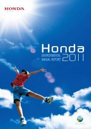 Download Environment report - Honda