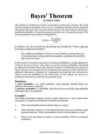 The Likelihood The Prior And Bayes Theorem Image