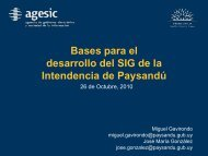 Bases para el desarrollo del SIG de la Intendencia de Paysandú