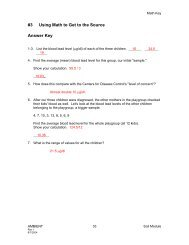 #3 Using Math to Get to the Source Answer Key