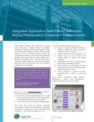 Integrated Approach to Build Patient Adherence - Cognizant