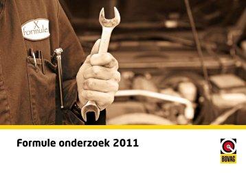 Formule onderzoek 2011 - Aftersales Magazine