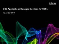 BSS Applications Managed Services for CSPs - Informa Telecoms ...