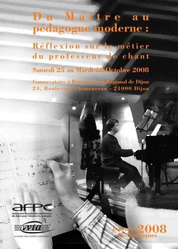 Programme congrès 2008