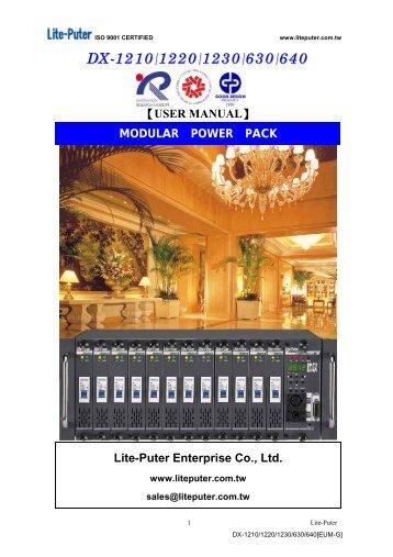 DX-1210/1220/1230/630/640 - L C Group