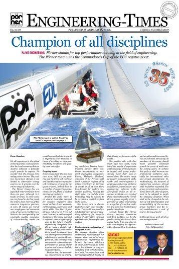 Champion of all disciplines - Pörner Group