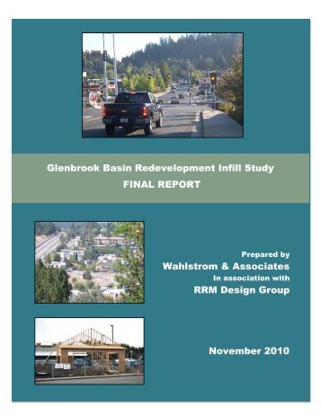 glenbrook basin redevelopment infill study final report - City of Grass ...