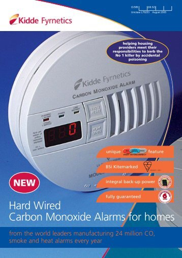 Hard Wired Carbon Monoxide Alarms For Homes - Safelincs