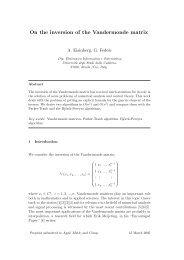 On the inversion of the Vandermonde matrix - ResearchGate