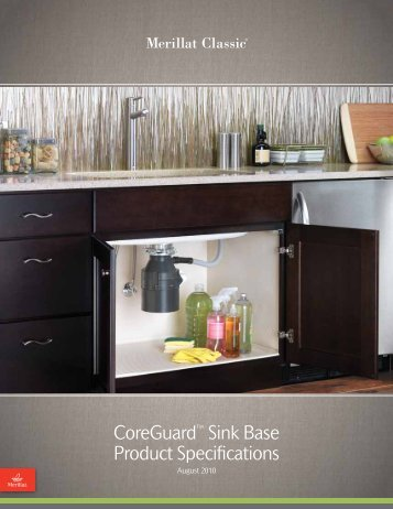 CoreGuard™ Sink Base Product Specifications - Merillat