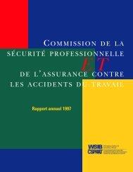 Rapport annuel 1997 - wsib