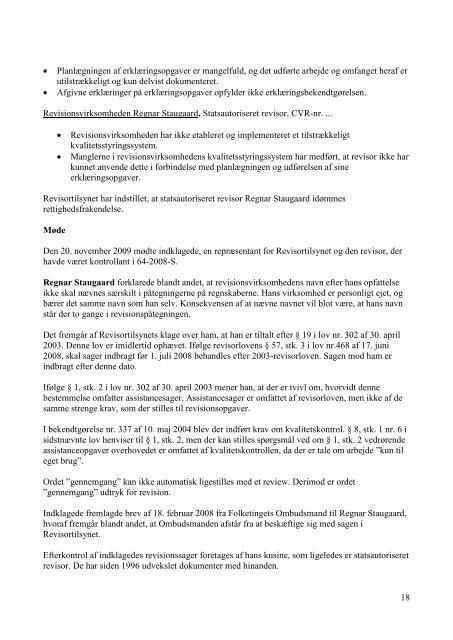 45/2007, 64/2008 og 24/2010 (30. marts 2011) - Revisornævnet