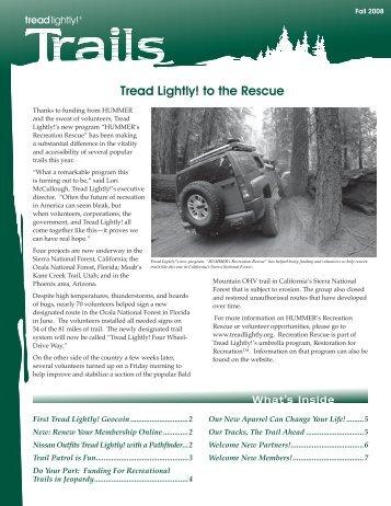 Fall 2008 - Tread Lightly