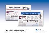 Die Preise und Leistungen 2012 - Zürcher Unterländer