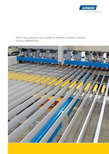 Planta de producción para mallas de refuerzo cortadas a ... - Schlatter