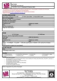 AJC - Dossier de candidature 2013 - Bordeaux