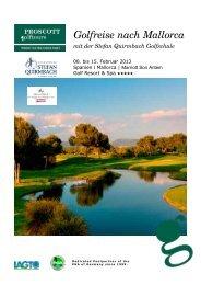 Ausschreibung & Anmeldung - Stefan Quirmbach Golfschule