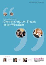 Bericht zur Bundesinitiative - Gleichstellung von Frauen in der ...