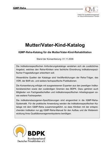 Mutter/Vater-Kind-Katalog - IQMG Institut für Qualitätsmanagement ...