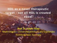 Vasoprotective effects of High Density Lipoprotein (HDL) are ... - 1