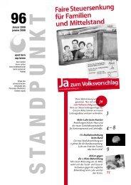 Standpunkt 96, Januar 2008 - vpod Bern