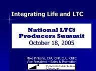 Integrated Life/LTC - Long Term Care Insurance
