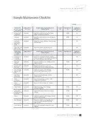 Sample Maintenance Checklist - BC Housing