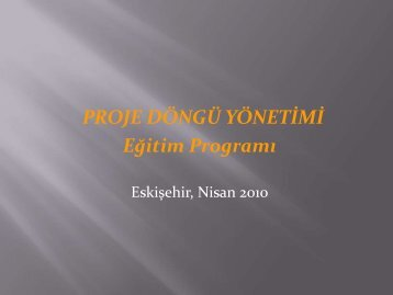 Proje Döngüsü Eğitim Sunumu