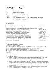 RAPPORT NAV 50 - Sjøfartsdirektoratet