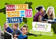 Folder Esdal College locatie Oosterhesselen