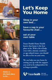 Let's Keep You Home - Fraser Health Authority