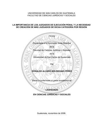 UNIVERSIDAD DE SAN CARLOS DE GUATEMALA ... - Biblioteca OJ