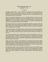 The Federalist No. 10 - Blow the Trumpet