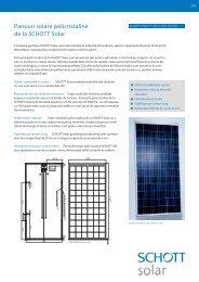 Panouri solare policristaline de la SCHOTT Solar - Carpat Energy