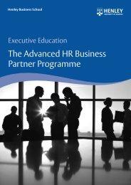The Advanced HR Business Partner Programme - Henley Business ...