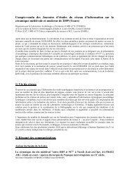 Compte-rendu des Journées d'études du réseau d'information sur la ...