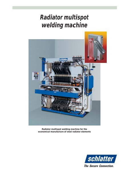 Radiator multispot welding machine - Schlatter