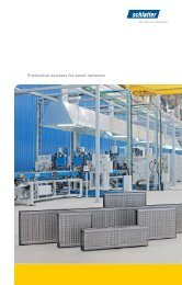 Example of a production plant for heating radiators - Schlatter