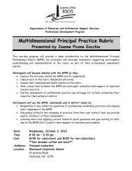 Multidimensional Principal Practice Rubric - Eastern Suffolk BOCES