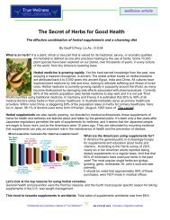 Herbs and Diet, The Secret for Good Health - True-Wellness