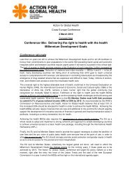 conference concept note - European Public Health Alliance