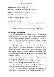 curriculum vitae - Medicina e chirurgia - Università degli Studi di ...