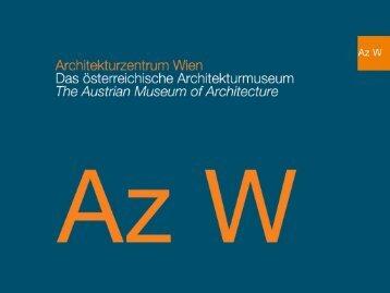 Presentation of the Az W and of the Architektenlexikon.