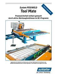 System POSIWELD Tool Mate Universelle ... - Schlatter