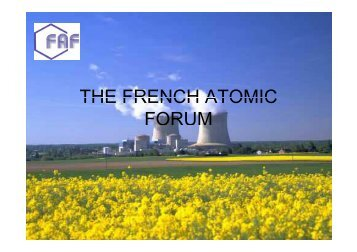 THE FRENCH ATOMIC THE FRENCH ATOMIC FORUM - Sfen