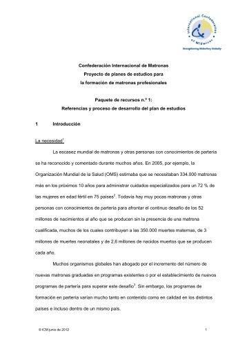 Referencias y proceso del plan de estudios - International ...